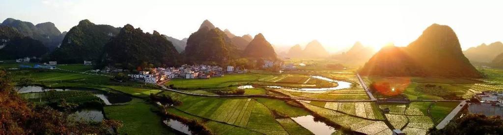 都康田园风光是天然山水和人文农田村庄的完美结合,也是天等景观的一