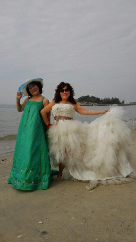 巽寮湾海边婚纱照!