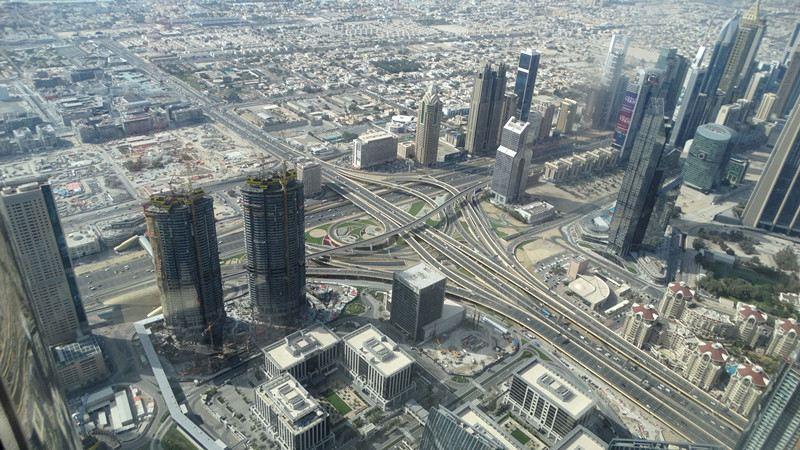 登哈利法塔俯瞰迪拜全景