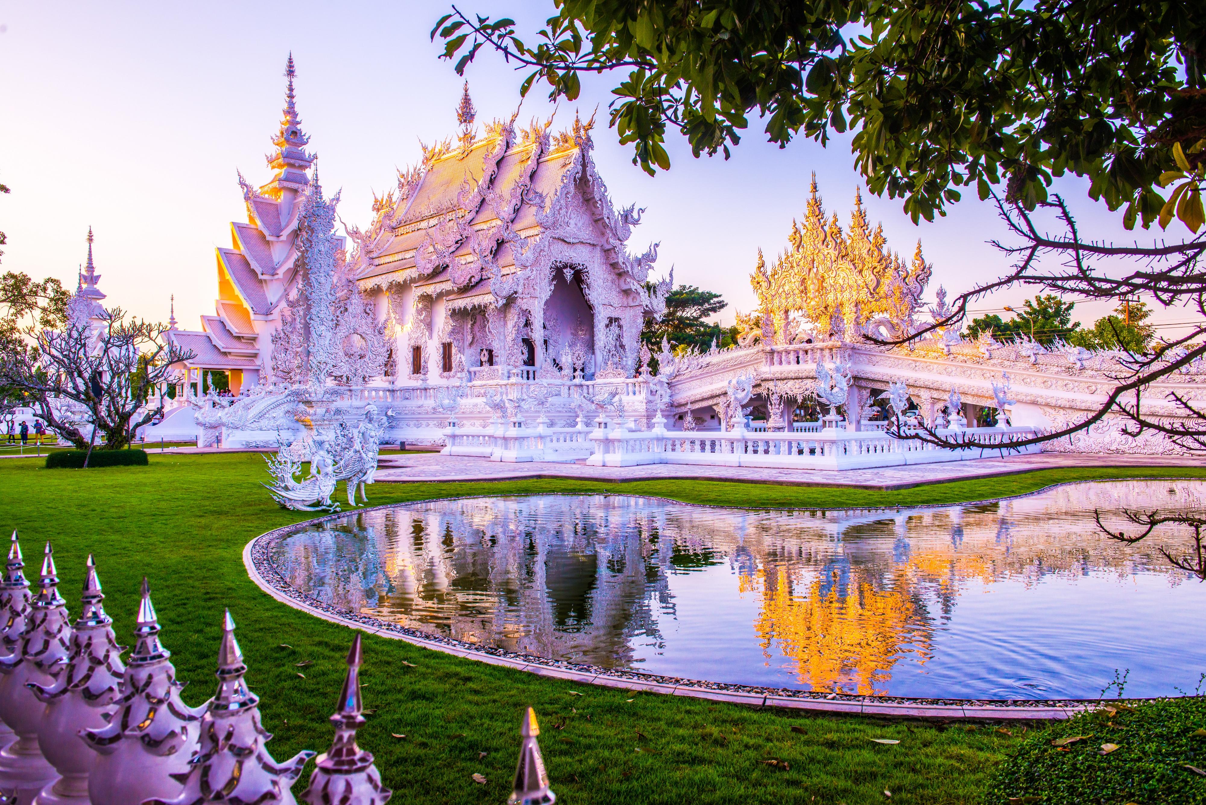 清迈泰国+清莱7日跟团游※落地签免费拿及设计花园别墅制作凉亭图片