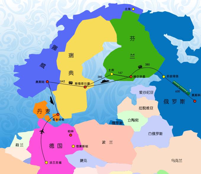 德国+芬兰+瑞典+丹麦+俄罗斯13日10晚跟团游(4钻)·东航直飞 海陆空玩