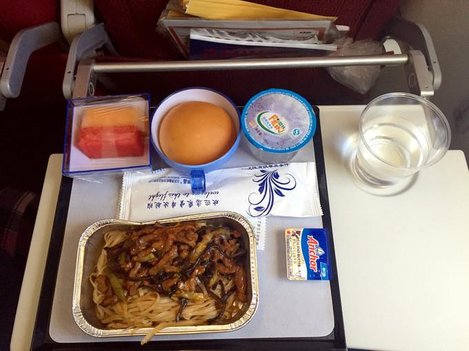 香港航空的飞机餐,味道还行