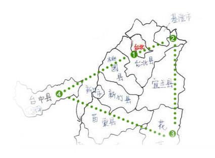 广州景点地图简笔画