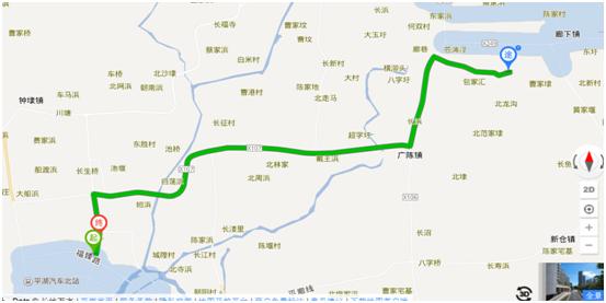 当天由于是周末,上海市内也来了赏枫的大批游客,执勤交通警察也对该路段实施了临时交通管制(单行道),公路路口还有不少警察在执勤,不明白的就问问警察蜀黍啦,当然是不会有错的,尤其是我从浙江来的朋友,而且上海的交警感觉很热情和也很耐心,对路况、停车等注意事项作出详细回答和介绍,在此向警察蜀黍同志表示感谢和敬礼噢! 行车途中汽车导航对目的地的指路有点出错,可能是没有及时对导航版本作更新的缘故吧,而多走了点弯路(回头路),从平朱公路指到漕廊公路方向了,到也正好顺道让我们去看了看在金山廊下漕廊公路上的上海廊下生态园