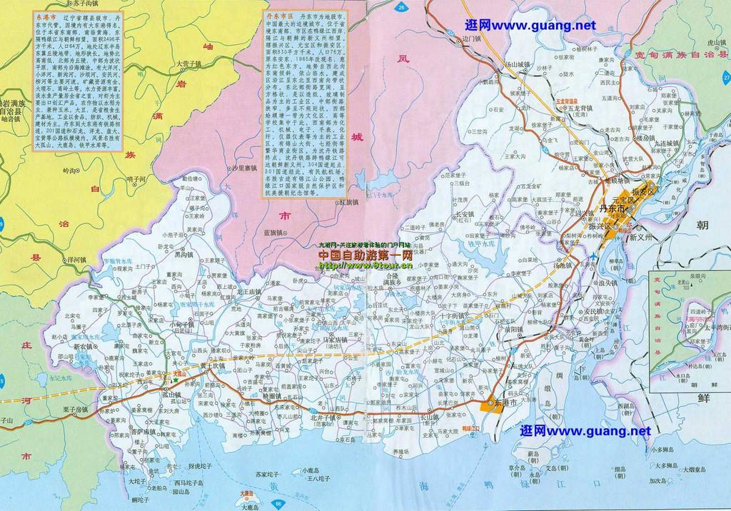 丹东市地图