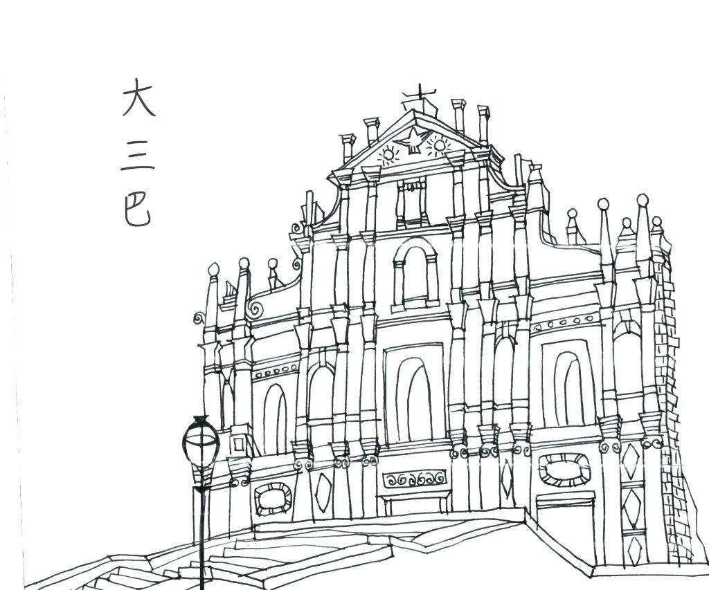 工程图 简笔画 平面图 手绘 线稿 1024_853