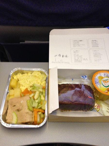 这是飞机上的早餐