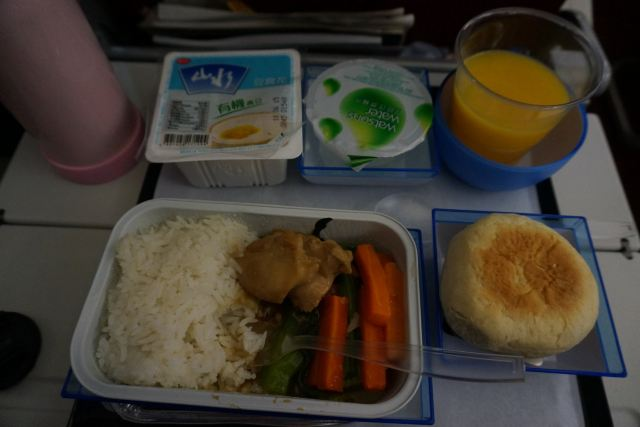 香港航空飞机餐,味道还不错