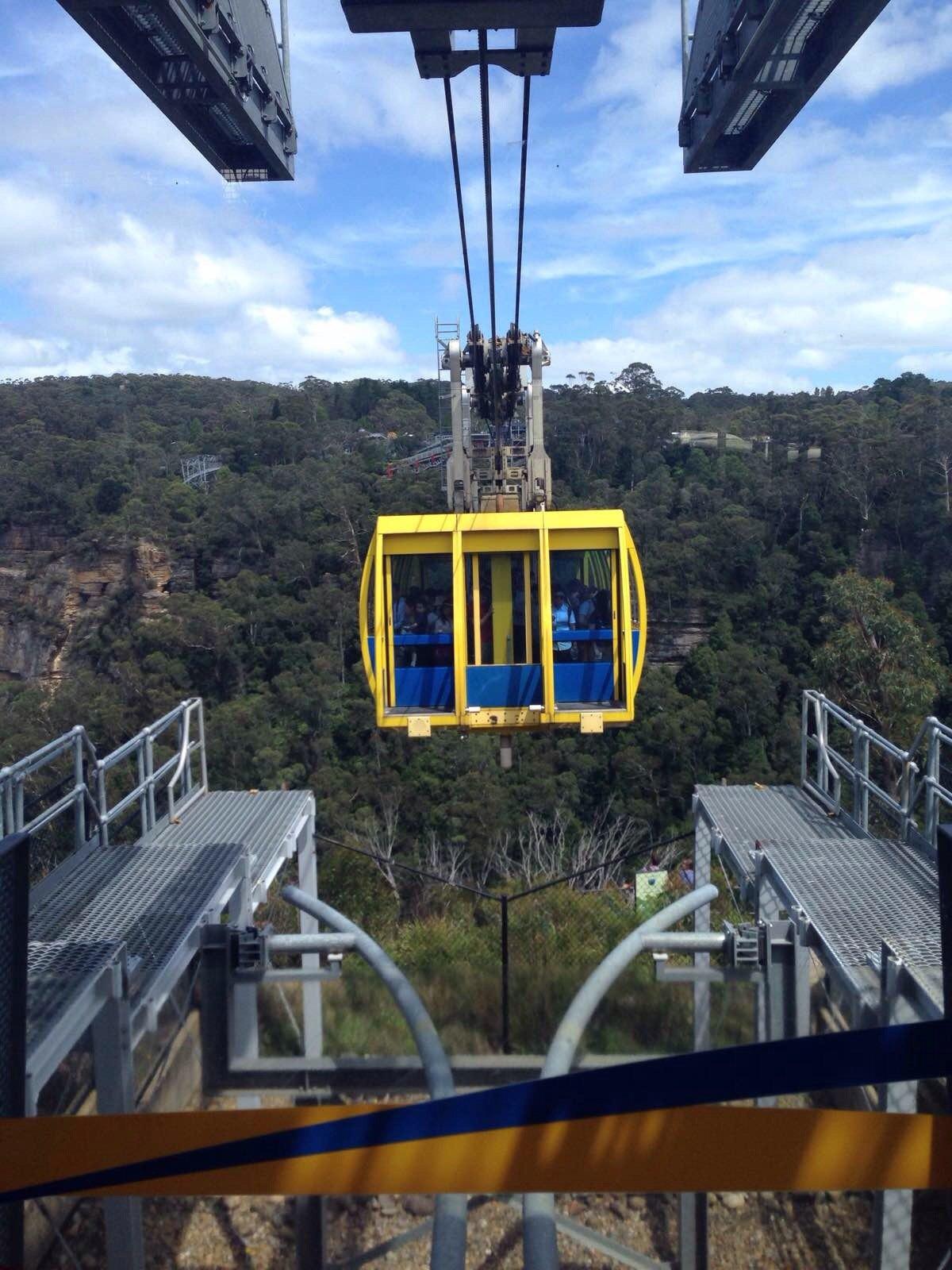 悉尼野生动物园 蓝山公园主要是通过乘坐三段缆车来游玩,通过各个