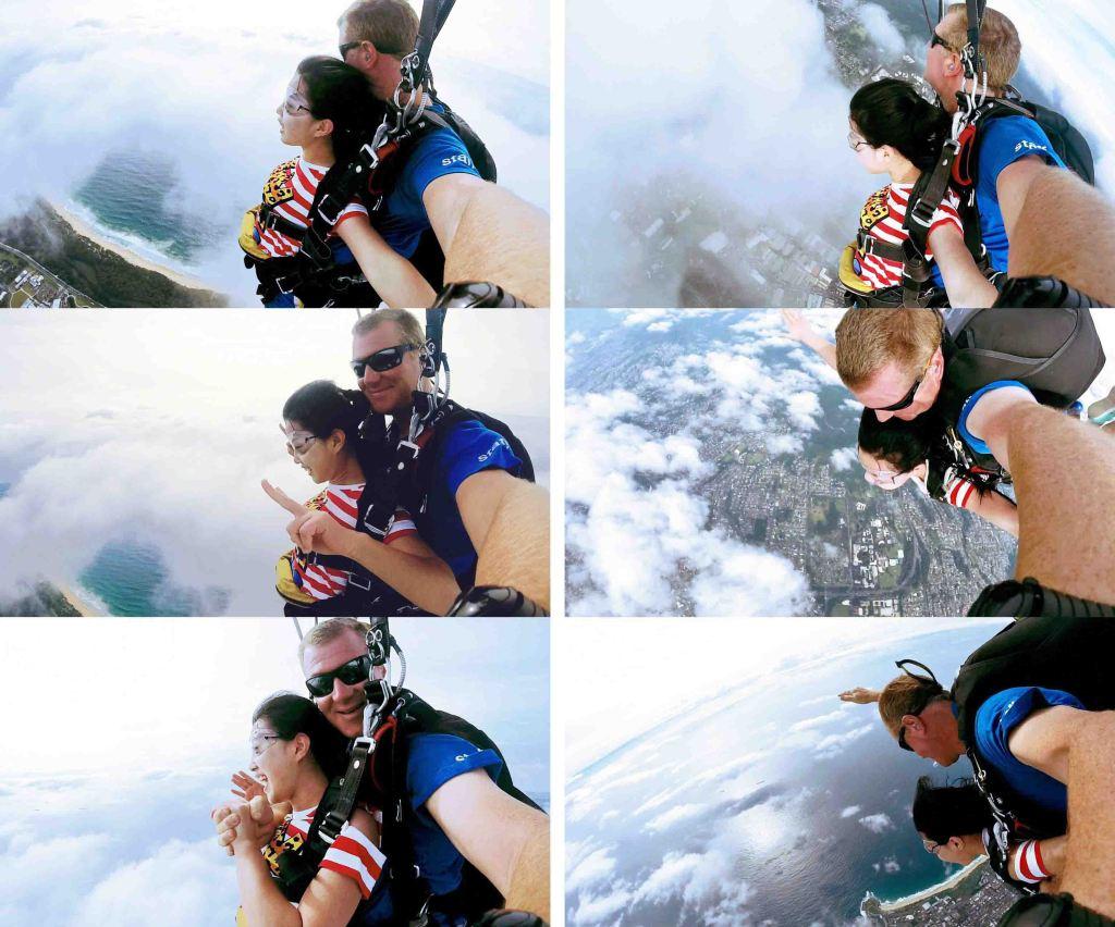 跳过伞之后再坐飞机,丁点感觉没有了