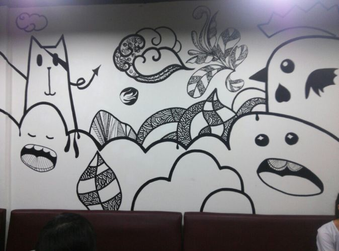 室内手绘画