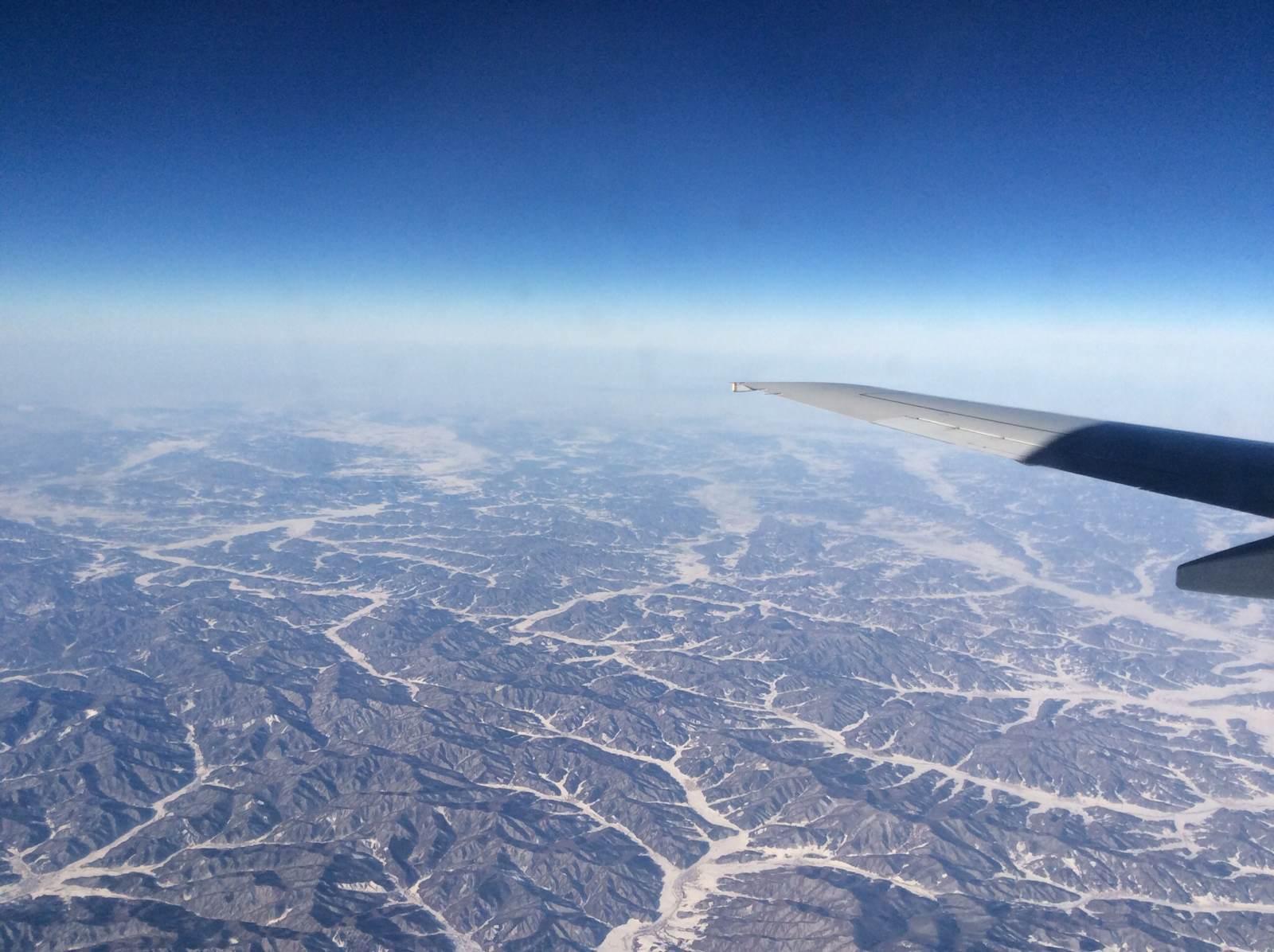 飞机上 哈尔滨机场不大