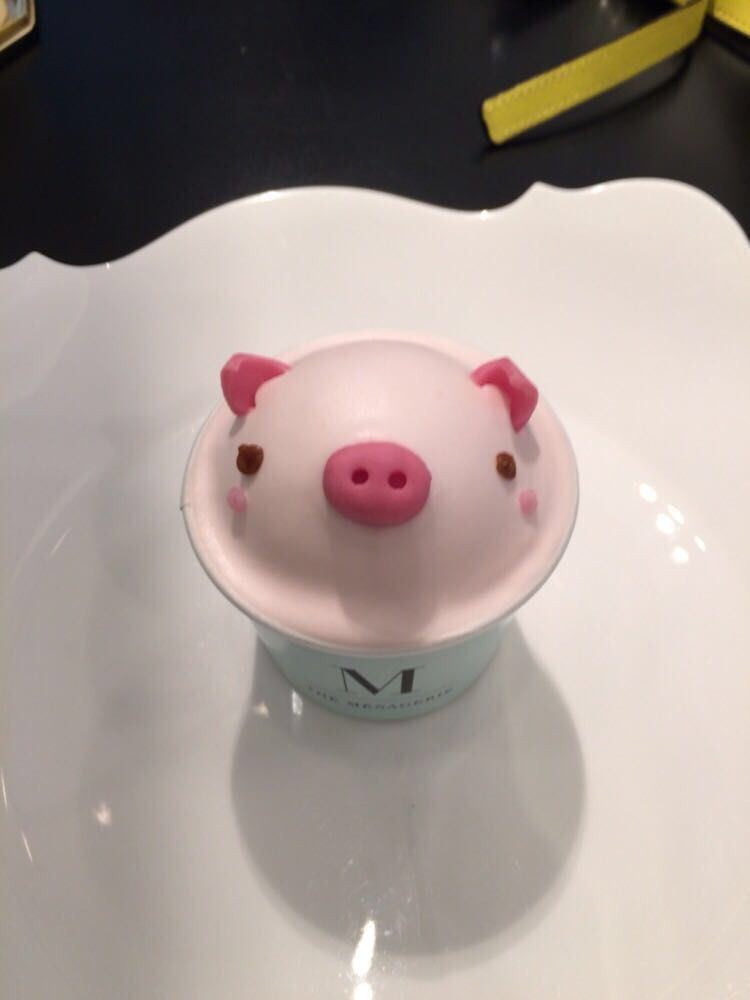 小猪蛋糕可爱的压根下不了手