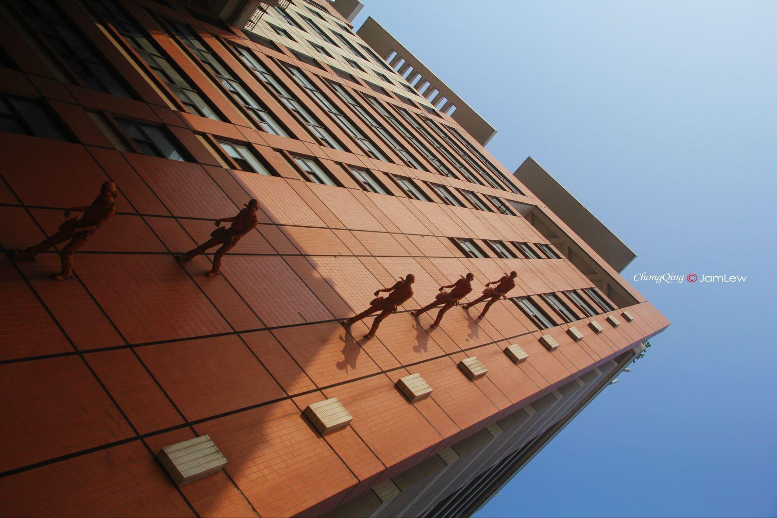 四川美术学院涂鸦街分享展示图片