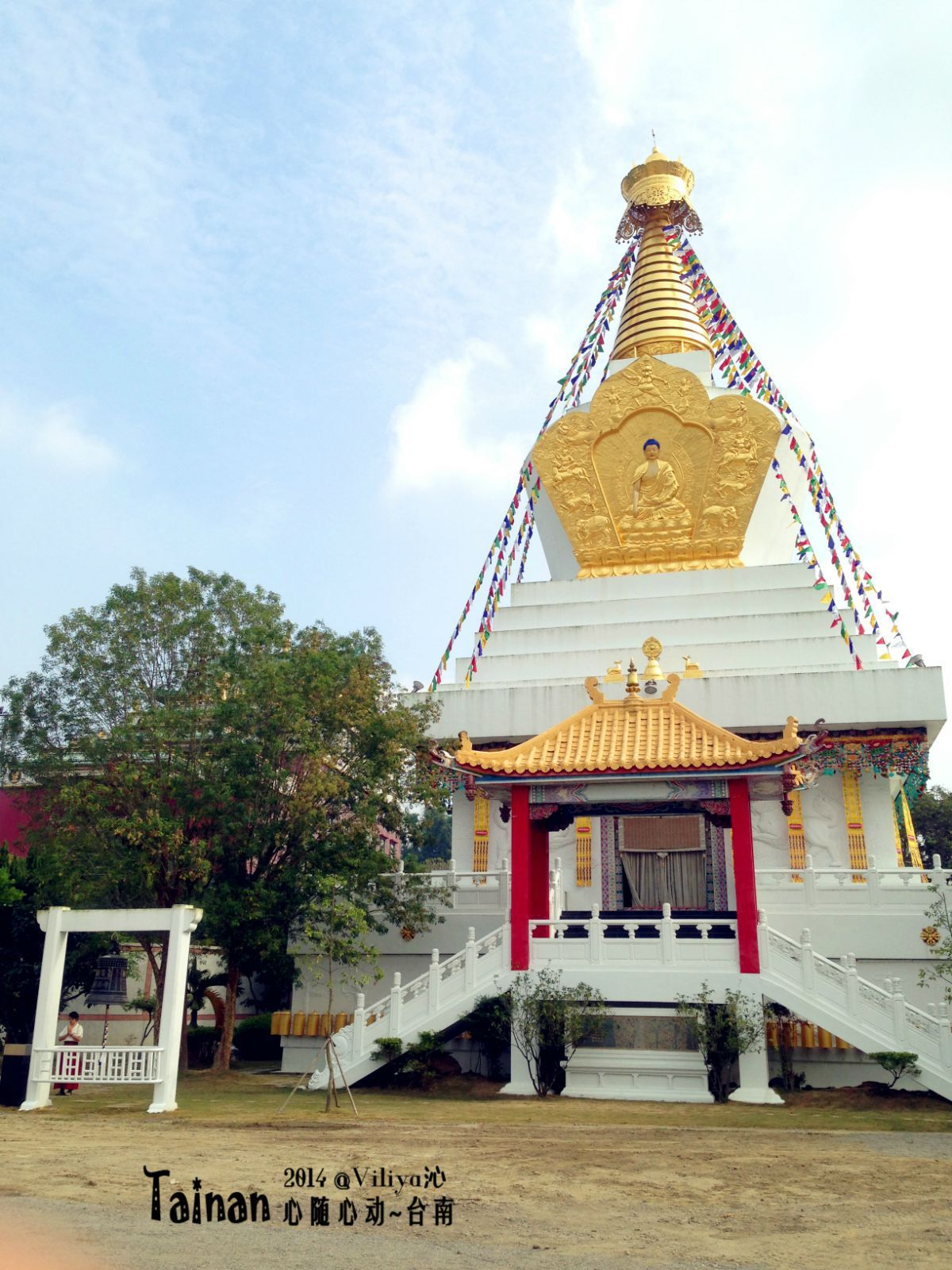 本寺佛塔形制,属于「菩提塔」.