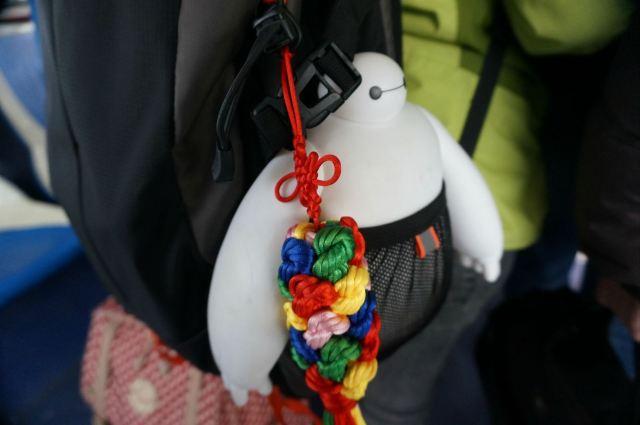 登机时看到前面一个姑娘背包里的大白,瞬间被融化~~好可爱