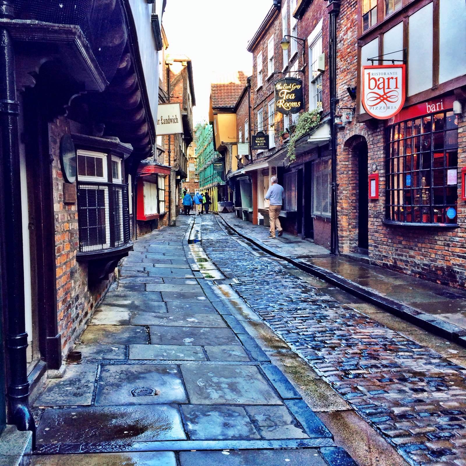 英国哥谭镇街道手绘
