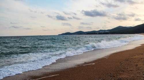 夏天 海边散步 gif
