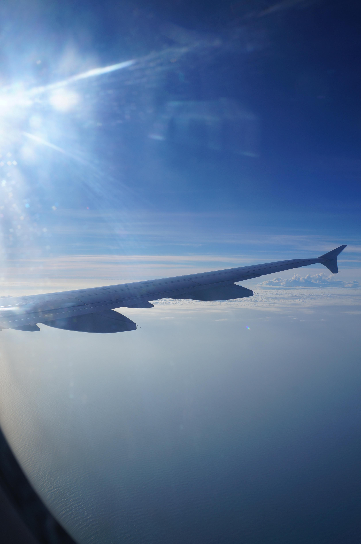 飞机上 由于来之前已经在网上看了无数个攻略,所以,落地后的转乘车辆