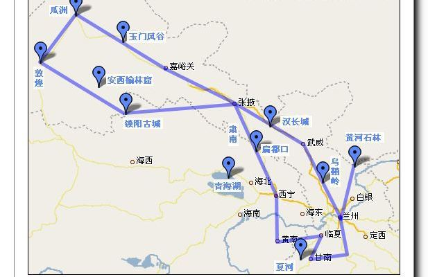 丝绸之路,青海,甘南,10日自助游〈一〉线路设计