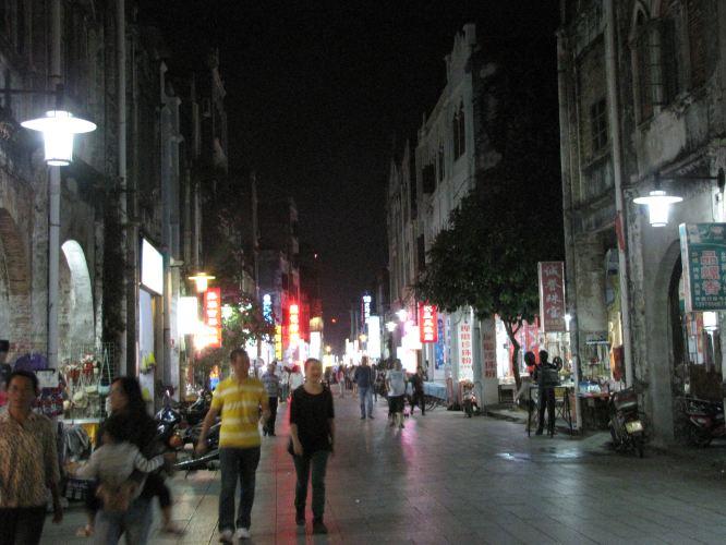 广西北海市的老街图片