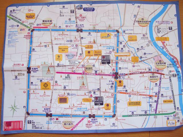 清迈古城地图.