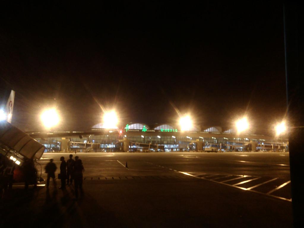 青岛流亭机场夜景图片