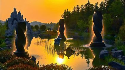 《光影银杏湖》