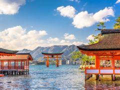 广岛1日,打卡网红海上神社