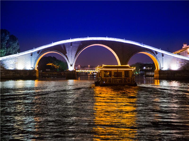 Suzhou Grand Canal Night Cruise with Performance Ticket (Xinshiqiao Wharf)