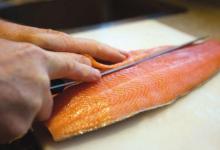 皇后镇美食图片-三文鱼