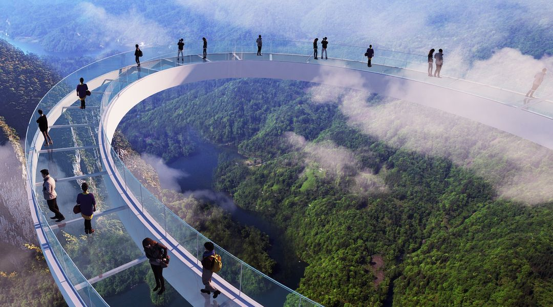 Huangteng Gorge Tianmen Sky Walk Admission Ticket