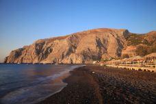 卡马利黑沙滩-圣托里尼-doris圈圈