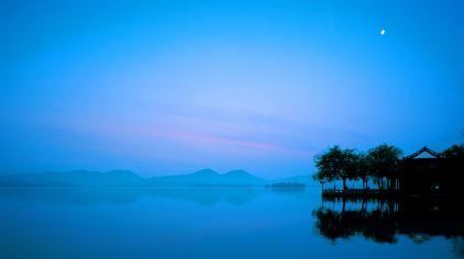 西湖赏月1