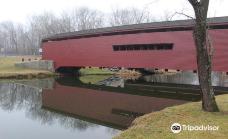 Gilpin's Falls Covered Bridge-马里兰州